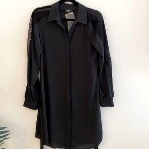 NWT STÜSSY Black knee length dress